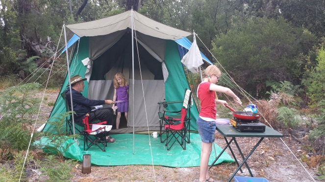 not blogging, camping