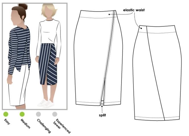 Style Arc Taylor Knit Skirt X 2 Thornberry