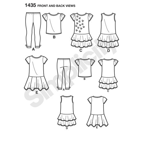 simplicity-girls-pattern-1435-front-back-view