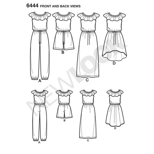 newlook-girls-pattern-6444-front-back-view