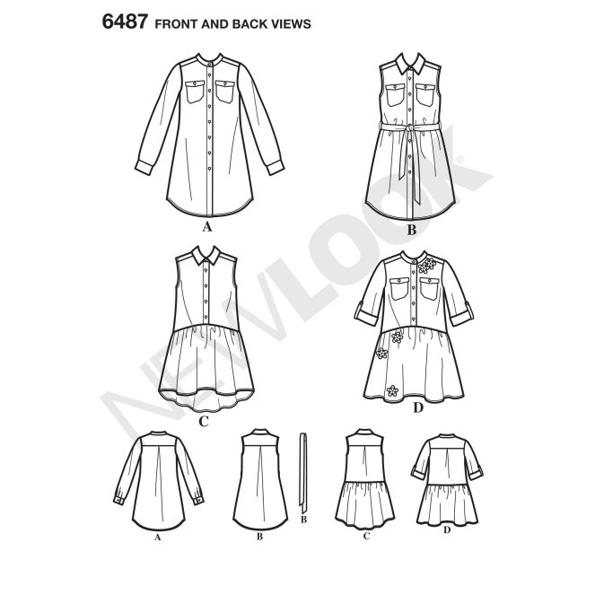 newlook-girls-pattern-6487-front-back-view