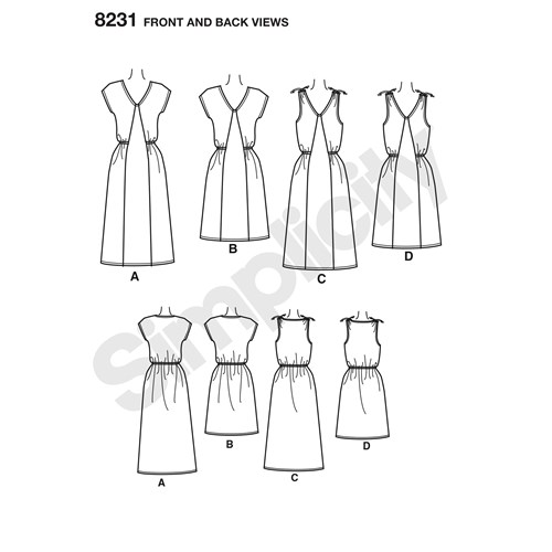 simplicity-dresses-pattern-8231-front-back-view