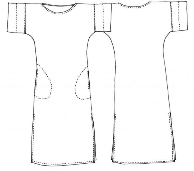 Coni Tunic line drawing