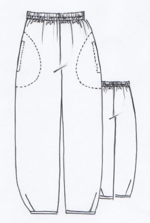 Demi pants line drawing