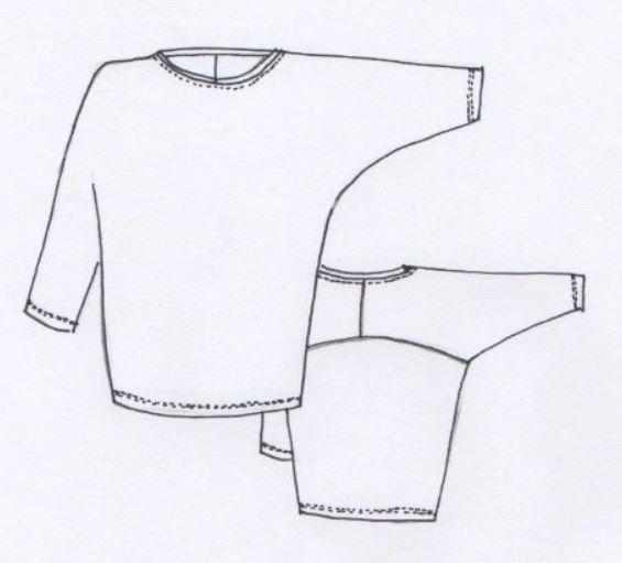 Isla top line drawing
