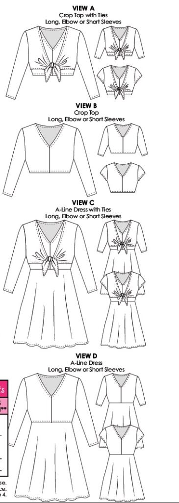 Shelby dress line drawings