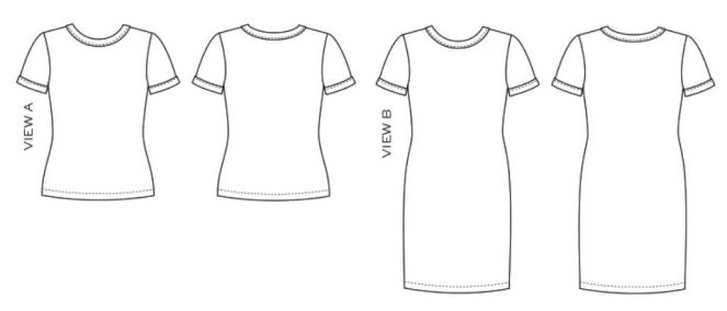Rio Ringer tee line drawing